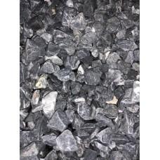 Мраморная крошка галтованная 10-20, черная