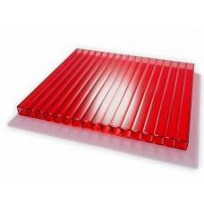 Поликарбонат 4мм-2,1*6м, цвет- красный