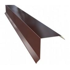 Планка фронтона 20*80мм, 2м, цвет- коричневый