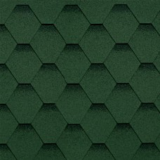 """Гибкая черепица """"Shinglas"""", цвет - зеленый (1уп/3м2)"""