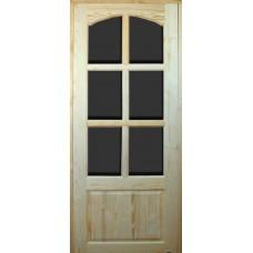 Дверь филенчатая под стекло 210*67см (60см)