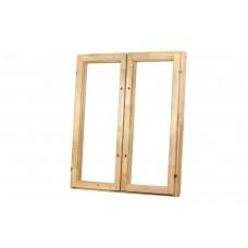 Окно деревянное h 1*1м