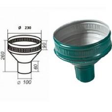 Воронка водосборная d=100, темно-зеленая