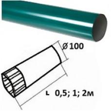 Труба темно-зеленая d=100, 0,5м