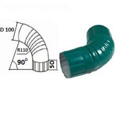 Колено гофрированное d=100, темно-зеленое
