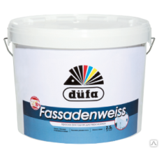 """Краска """"Dufa Retail"""" FASSADENWEISS база 1, 10л"""