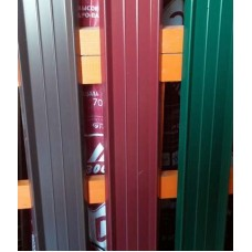 Профиль - М (штакет), цвет - зеленый,  двухсторон., h - 1,8м
