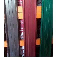 Профиль - М (штакет), цвет - коричневый,  двухсторон., h - 1,5м