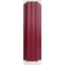 Профиль - П (прожилина), цвет - вишня, двухсторон., h - 2,5м