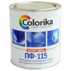 """Эмаль ПФ-115 """"Colorika"""" черная, 0,8кг"""
