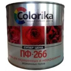 """Эмаль ПФ-266 """"Colorika"""" красно-коричневая, 0,9кг"""