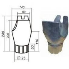 Воронка желоба d=125/100, оцинкованная